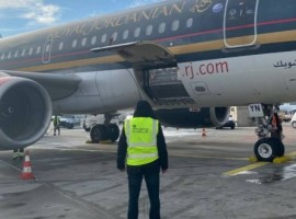 Doses of the vaccine were handled at FCS' facility at Frankfurt's CargoCity Süd before being loaded into the cargo hold of a Royal Jordanian Airlines' Airbus A319 bound for Amman.