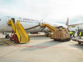 GEFCO transported 64 tonnes of Covid-19 medical supplies on 2 planes from Shanghai to Bratislava for distribution in Slovakia and Czech Republic