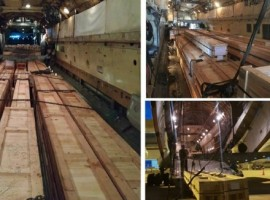 They operated multiple charter flights to airlift oversized wooden crates and related material that were required in Doha to complete work on the project.