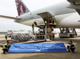 JAS Worldwide moved almost 50 tonnes of PPE and supplies on behalf of the World Food Programme under Qatar Airways Cargo's We Qare '1 million kilos' charitable campaign and from Shanghai to Dhaka.