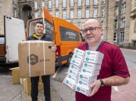 Kerry Logistics Network has donated its services to deliver 5,000 pairs of compression socks, given by Trtl, to frontline health professionals across Scotland