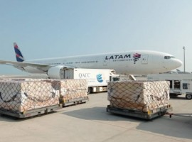 The cargo carrier transported perishables from its customers in South America to Asia and returning to Latin America with a load of electronics.