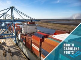 The North Carolina State Ports Authority moved 1,459 refrigerated containers – 2,918 TEUs (twenty-foot equivalent units) – through the Port of Wilmington