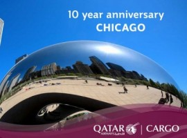 Qatar Airways Cargo has completed 10 years of freighter operations to Chicago, United States on Aug 18. Chicago was the airline's first dedicated freighter destination in the United States.