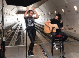 The British singer performed live on the main deck of an AirBridgeCargo Boeing 747F to celebrate Volga-Dnepr's 30th anniversary and to honour air cargo's Covid-19 warriors.