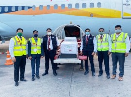 The first consignment of Covishield consisting of 2,64,000 doses was transported from Pune to Delhi on SpiceJet flight SG 8937. The flight took-off from the Pune International Airport at 8.05 am and landed at the Indira Gandhi International Airport, Delhi at 10.15 am.