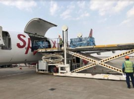 SpiceJet is operating its first-ever B737 cargo freighter flight to China carrying Covid-19 related essential medical supplies from Shanghai to Hyderabad, India today.