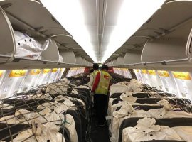 SpiceJet operated the country's first cargo-on-seat flight carrying vital supplies from Delhi to Chennai on April 7.