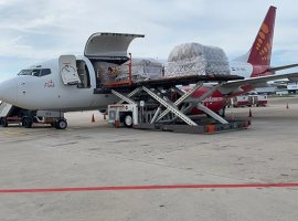 Spicejet operates its first cargo freighter to Singapore on April 9 carrying critical medical equipment