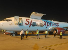The airline operated its maiden freighter flight carrying 17 tonnes of medical supplies from Kolkata to Cebu today