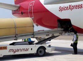 SpiceJet, India's biggest air cargo operator, operated its first freighter flight to Myanmar today, April 21, carrying medical supplies to the country. On its return leg, the aircraft will carry medical equipment from Myanmar to India's capital, Delhi