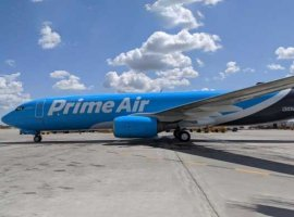 Sun Country Airlines flies its first cargo flight for Amazon Air using a Boeing converted 737-800 freighter
