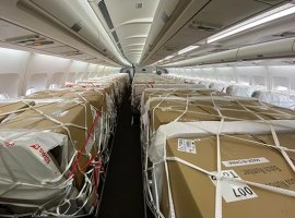 Over 10 cargo-only Airbus A340 flights of Swiss will operate this month from Mainland China to Switzerland.
