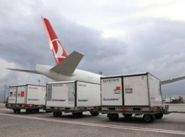 The vaccines, loaded inside seven containers equipped with dedicated cooling systems, were transported safely from Beijing to Sao Paulo, the biggest city of the South America, with a connection flight at Istanbul.