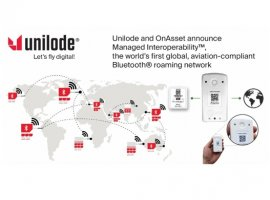 Unilode Aviation Solutions and OnAsset Intelligence have launched the world's first aviation-compliant Bluetooth roaming network.