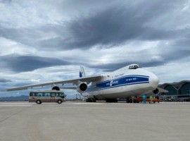 Volga-Dnepr Airlines operated a charter flight carrying high voltage equipment to be used in the construction of a 450MW solar power plant in Vietnam.