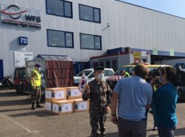 WFS in Brussels, Belgium, recently handled a special diplomatic shipment of 20,000 face masks for South Korea.