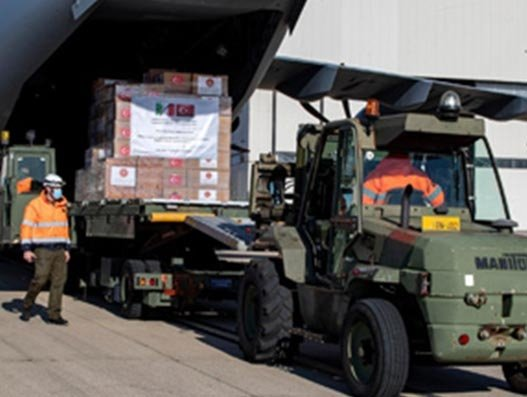 Turkish Air Force carries medical aid to Spain, Italy