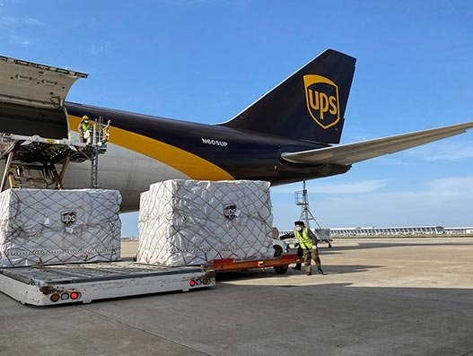 UPS to manage, broker 25 charter flights for next two weeks
