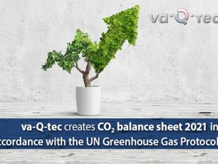 va-Q-tec creates CO2 balance sheet in accordance with UN Greenhouse Gas Protocol