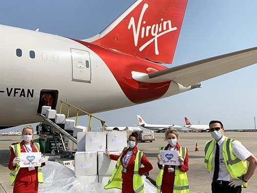 Virgin Atlantic, Virgin Unite team up to fly medical supplies for NHS
