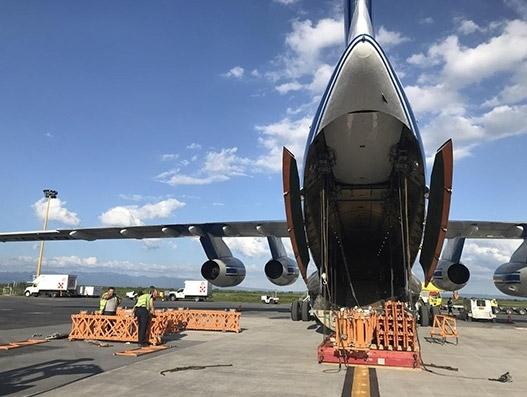 Volga-Dnepr airlifts heavy machinery equipment from Mexico to India