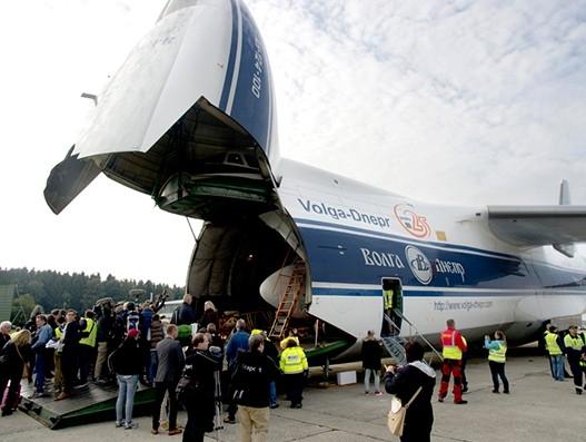 Volga-Dnepr Airlines brings 'Landshut' Boeing 737 home