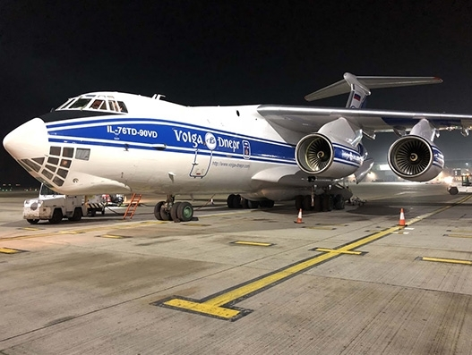 Volga-Dnepr's sequential loading reduces ground handling time by six hours
