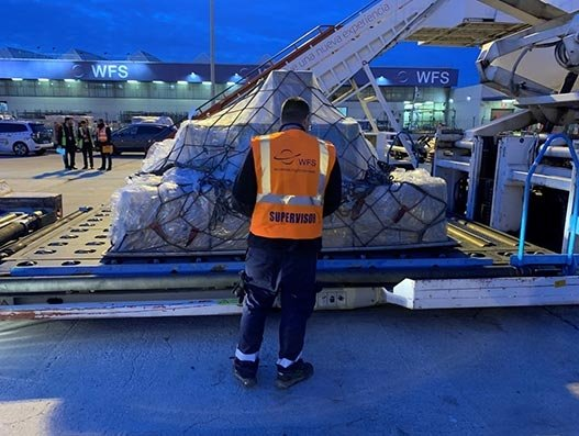 WFS is handling 150 tonnes of medical supplies daily in Spain