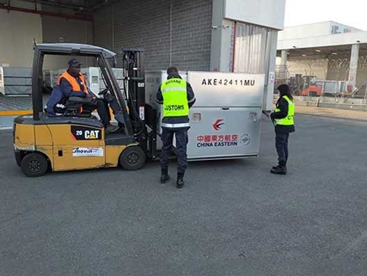 WFS' Milan team handles critical medical supplies for hospitals in Italy