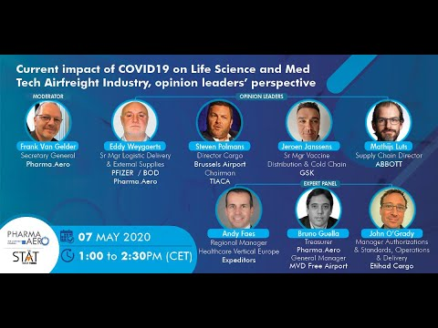 What's the current impact of Covid-19 on air logistics for life sciences and med-tech industries?