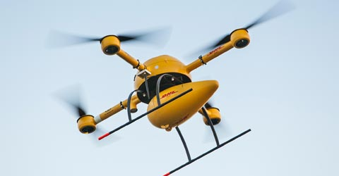 DHL begins  drone delivery of  parcels by 'parcelcopter'