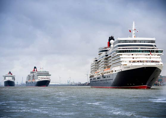 Peel Ports welcomes three Queens to Liverpool