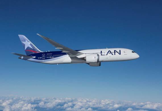 LAN starts flights from Santiago de Chile to Milan