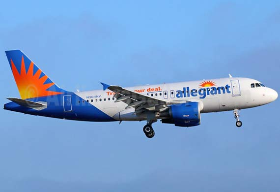 Allegiant adds another Airbus A320 to its fleet