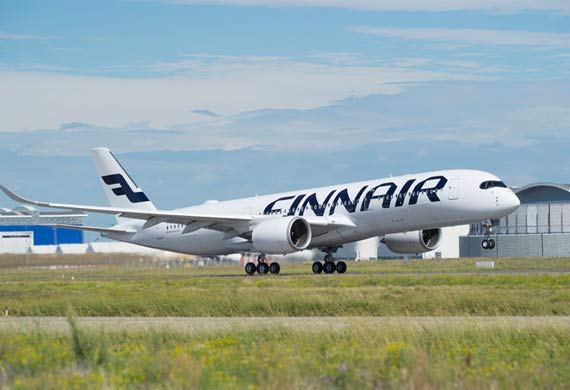 Finnair's first A350 XWB makes its maiden flight