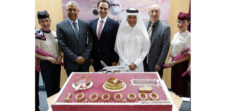 Qatar Airways becomes the first airline to pass10 million fan mark on Facebook