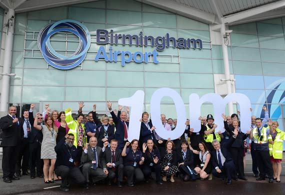 10 million passengers choose Birmingham Airport