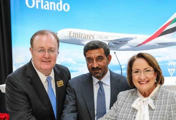 Emirates touches down in Orlando