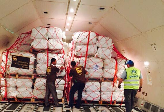 UPS facilitates UN aid flights from the Middle East
