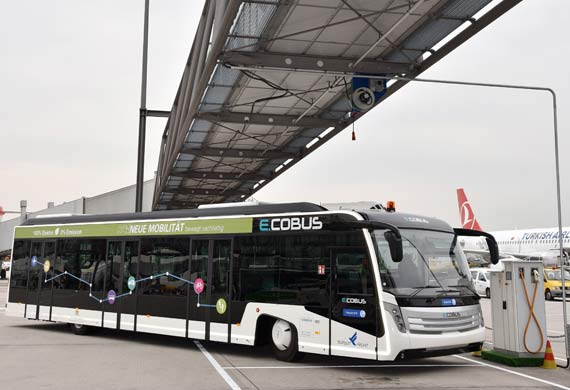 Stuttgart Airport deploys six more electric passenger buses