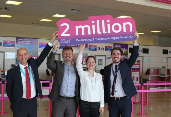 Wizz Air marks major passenger milestone from Yorkshire