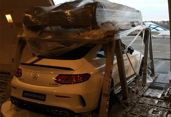 ABC and JAS Worldwide move cars for Macau Grand Prix
