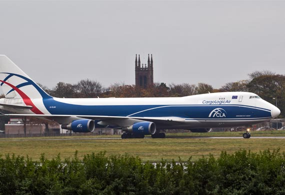 CargoLogicAir waits for AOC to take off