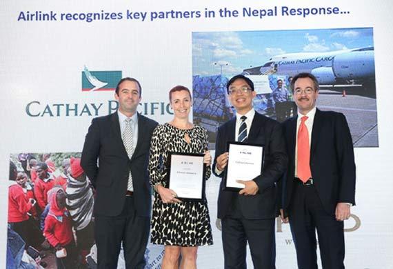 Cathay Pacific receives award for humanitarian efforts
