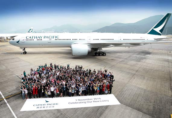 Cathay Pacific unveils new livery
