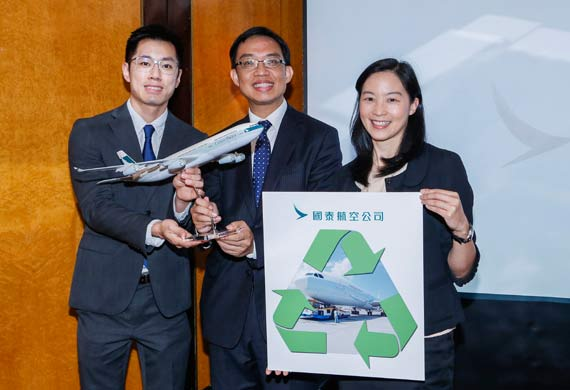 Cathay Pacific unveils recycling of A340 aircraft