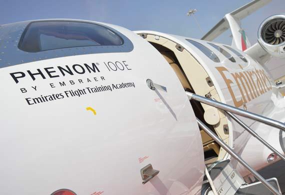 Emirates flight training orders Phenom 100E jets