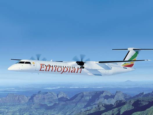 Ethiopian Airlines orders two more Bombardier Q400 turboprop aircraft