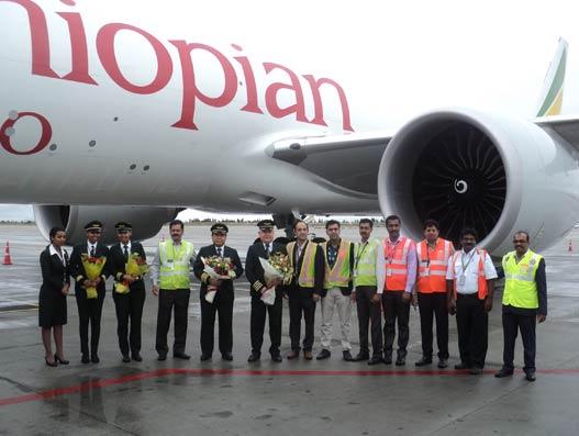 Ethiopian Cargo's inaugural flight touches down in KIAB